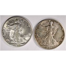 1943-D & 1944-D WALKING LIBERTY HALVES