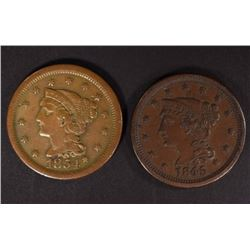 1845 & 1854 LARGE CENTS VERY FINE