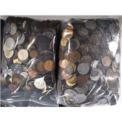 15-Pounds of Well Mixed Foreign Coins