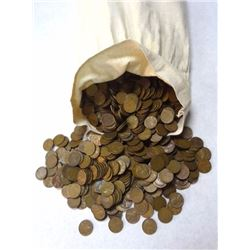 5000 COUNT BAG OF MIXED CIRC LINCOLN WHEAT CENTS