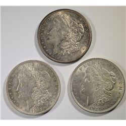 3 - 1921 MORGAN SILVER DOLLARS