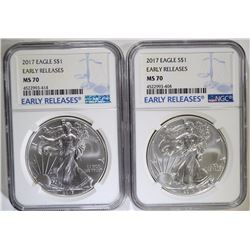 2 - 2017 EARLY RELEASES NGC MS70