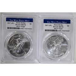 2 - 2017 (W) FIRST STRIKE PCGS MS70