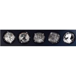2011 5-PIECE 25th ANNIVERSARY SILVER EAGLE SET