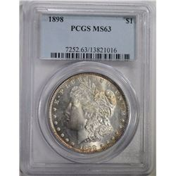 1898 MORGAN DOLLAR PCGS MS63