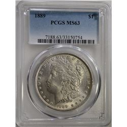 1889 MORGAN DOLLAR PCGS MS63