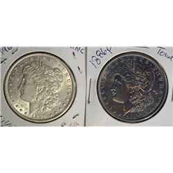 2 - MORGAN DOLLARS: 1886 TONED BU &