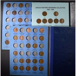 3 - LINCOLN CENT PARTIAL SETS; 1909-1940