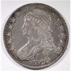 1823 CAPPED BUST HALF DOLLAR XF DOUBLED