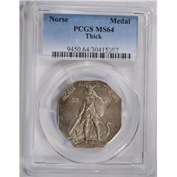 1925 NORSE MEDAL THICK PCGS MS64