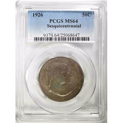 1926 SESQUI HALF DOLLAR COMMEM PCGS MS64