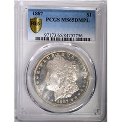 1887 MORGAN DOLLAR PCGS MS65DMPL