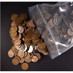 1000 Circulated Wheat Cents - Various Dates
