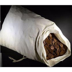 5000  CIRCULATED WHEAT CENTS IN CANVAS BAG