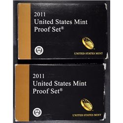 (2) 2011 U.S. MINT PROOF SETS