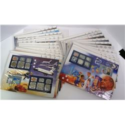 MINT SETS in PAGES w/STAMPS; 1965-1981, 1984-