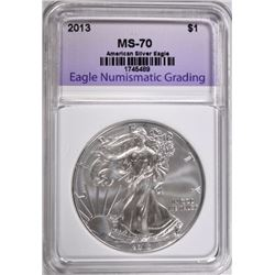 2013 AMERICAN SILVER EAGLE ENG PERFECT GEM BU