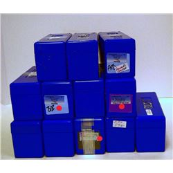 12-USED PCGS BLUE SLABBED COIN BOXES WITH LIDS