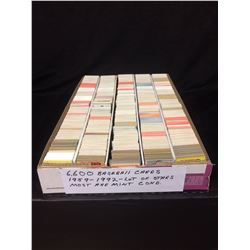 6600 BASEBALL TRADING CARDS (1959-1992) LOTS OF STARS