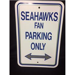 SEATTLE SEAHAWKS FAN PARKING TIN SIGN