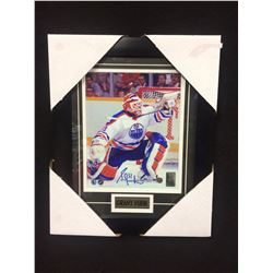 "GRANT FUHR AUTOGRAPHED 12"" X 14"" FRAMED PHOTO W/ BOSSA COA"