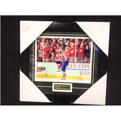"ALEX OVECHKIN AUTOGRAPHED 12"" X 14"" FRAMED PHOTO W/ COA"