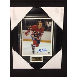 "GUY LAFLEUR AUTOGRAPHED 12"" X 14"" FRAMED PHOTO"