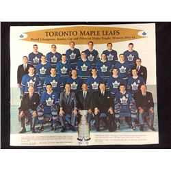 VINTAGE TORONTO MAPLE LEAFS 1962-63 TEAM PHOTO