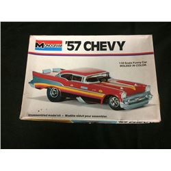 MONOGRAM '57 CHEVY 1/24 SCALE FUNNY CAR MODEL KIT (MOLDED IN COLOUR)