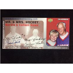 GORDIE HOWE AUTOGRAPHED BIRTHDAY/ANNIVERSARY PARTY TICKET (NO COA)