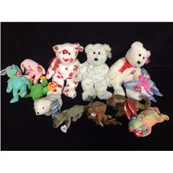 LOT OF BENNIE BEARS AND BABIES COMPLETE WITH TAGS
