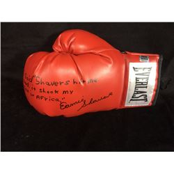 ERNIE SHAVERS AUTOGRAPHED EVERLAST BOXING GLOVE (INSCRIBED)