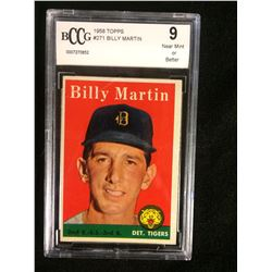 1958 TOPPS #271 BILLY MARTIN (9 NM OR BETTER) BECKETT