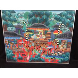 PAINTING by MD. DJAGA, Penestana ORIGINAL SIGNED Painting By Major Balinese Artist MD. DJAGA, from t