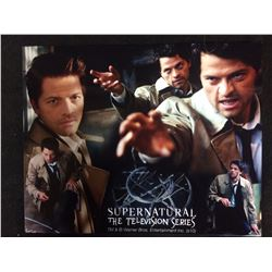 "MISHA COLLINS AUTOGRAPHED 8"" X 10"" PHOTO (SUPERNATURAL TV SERIES)"