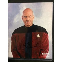 "PATRICK STEWART AUTOGRAPHED 8"" X 10"" PHOTO W/ COA (STAR TREK THE NEXT GENERATION)"