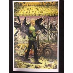 WALKING DEAD COVER ART SIGNED BY COMIC BOOK ARTIST TONY MOORE