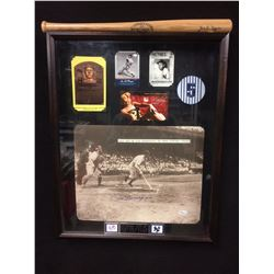 JOE DIMAGGIO/ MARILYN MONROE AUTOGRAPHED PHOTO COLLAGE SHADOW BOXED W/ JSA COA