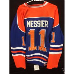MARK MESSIER AUTOGRAPHED OILERS HOCKEY JERSEY W/ COA