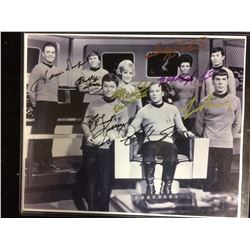 AUTOGRAPHED CREW MEMBERS STAR TREK PHOTO W/ COA
