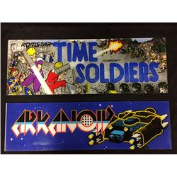 ARCADE GAME GLASS (TIME SOLDIERS, ARKANOID)
