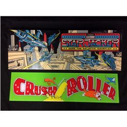 ARCADE GAME GLASS (STAR JACKER, CRUSH ROLLER)