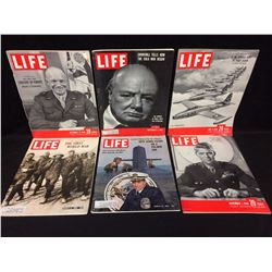 VINTAGE LIFE MAGAZINE LOT (EISENHOWER, CHURCHILL & MORE)