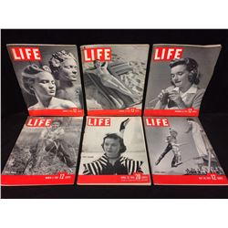 VINTAGE LIFE MAGAZINE LOT (PARIS FASHIONS, CIRCUS FAMILY & MORE)