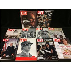 VINTAGE LIFE MAGAZINE LOT (BRITISH WOMEN, P.O.W WIFE & MORE)