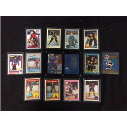 NHL HOCKEY ROOKIES & STARS CARDS LOT (FUHR, JAGR, LEMIEUX & MORE)