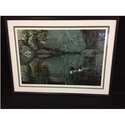 SIGNED & NUMBERED  ROBERT BATEMAN  FRAMED PRINT(5695/8631)