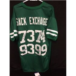 Mark Gastineau, Joe Klecko, Marty Lyons and Abdul Salaam AUTOGRAPHED SACK EXCHANGE FOOTBALL JERSEY
