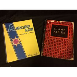 2 WORLD STAMP BOOKS W/ STAMPS