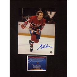 "GUY LAFLEUR AUTOGRAPHED 8"" X 10"" MATTED PHOTO W/ BOSSA COA"